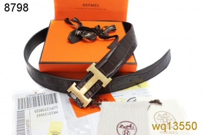 Exclusive Mens Hermes with Golden H Buckle Belt Black