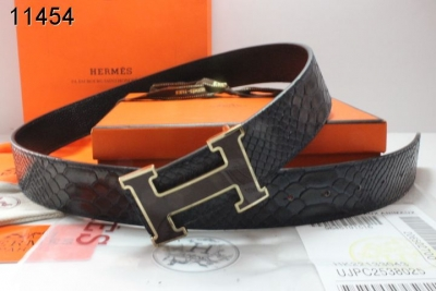 Famous Mens Belt with Black H Buckle Hermes Black