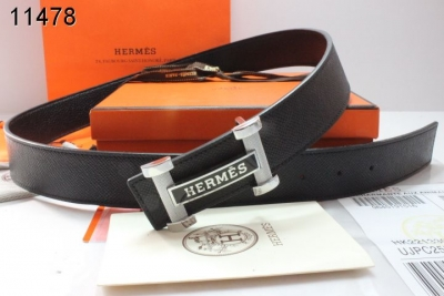 Fashion Hermes Mens with Black H Buckle Black Belt