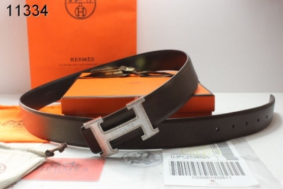 Fashionable Mens Hermes Black with Silver H Buckle Belt Clearanc