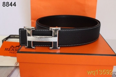 Mens Belt with Silver H Buckle Black Hermes Deals