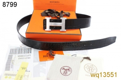 Mens Hermes Black with Silver H Buckle Belt Clearance