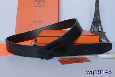 New Belt Hermes with Black H Buckle Mens Black