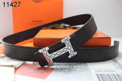 New with Silver H Buckle Belt Hermes Black Mens Affordable