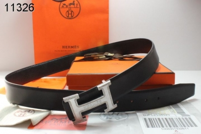 Special Belt Hermes Mens with Silver H Buckle Black Clearance Sa