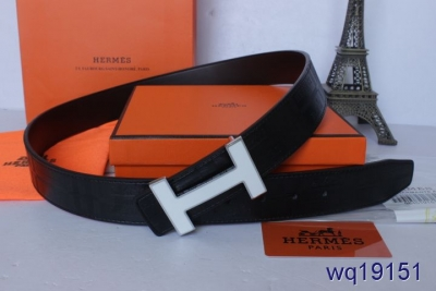 with Silver H Buckle Black Belt Mens Hermes Cheap Sale