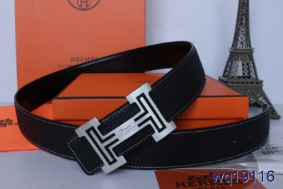 with Silver H Buckle Black Mens Hermes Belt Clearance
