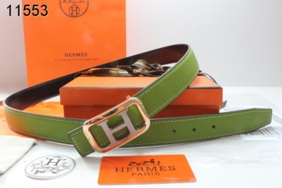 Amazing Belt Hermes with Golden/Silver H Buckle Womens Green