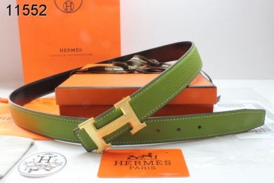 Authentic Hermes with Golden H Buckle Belt Womens Green
