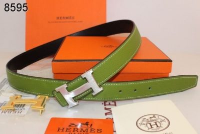 Green Womens with Silver H Buckle Hermes Belt Store