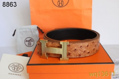 Discount Belt Mens Hermes with Golden H Buckle Brown Sale