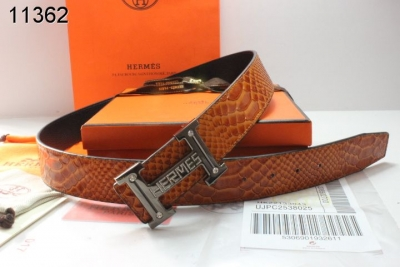 Fashion Mens Brown Belt with Black H Buckle Hermes Sale