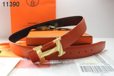 Amazing Hermes Mens with Golden H Buckle Belt Orange Clearance S