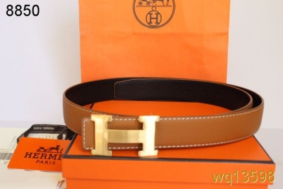 Designer with Golden H Buckle Hermes Orange Mens Belt Deals