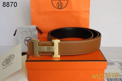 Discount Hermes Mens Belt Orange with Golden H Buckle For sale