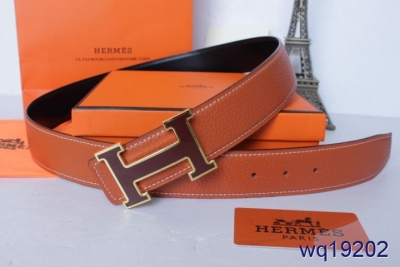 Latest with Red H Buckle Belt Hermes Mens Orange On sale