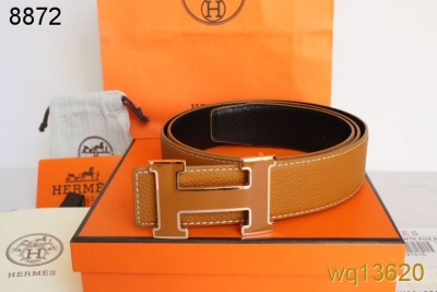 Luxury Orange Belt Hermes Mens with Orange/Golden H Buckle