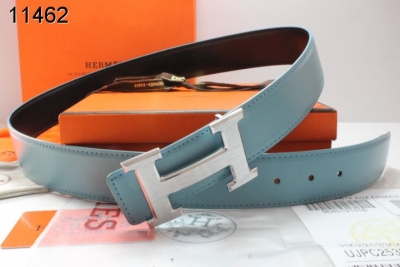 Fashionable Hermes Belt Mens Blue with Silver H Buckle Promote