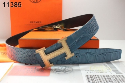 Stylish Hermes with Golden H Buckle Belt Mens Blue Online