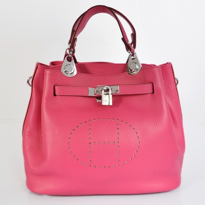 8388PS Hermes Mini so kelly bag in Peach with Silver hardware