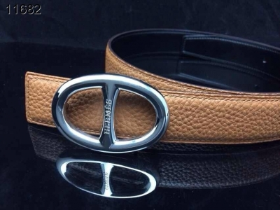 Belt Brown with Silver H Buckle Hermes Womens Inexpensive
