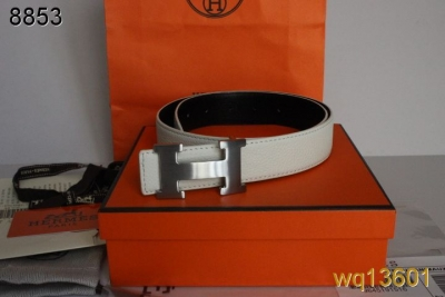 Belt Mens with Silver H Buckle White Hermes Outlet