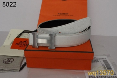 with Silver H Buckle Mens Belt Hermes White Cheap Sale