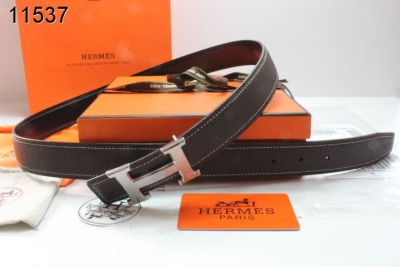 Purchase Womens Belt with Silver H Buckle Black Hermes