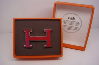 Hermes Enamel Buckle Red