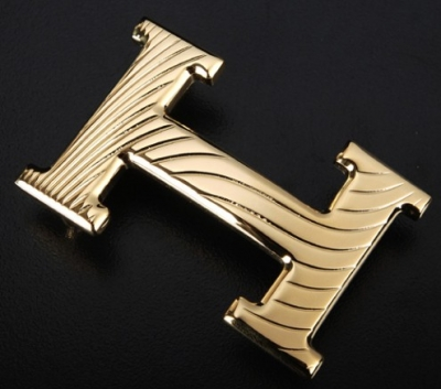 Hermes Waves Stripe Buckle Gold