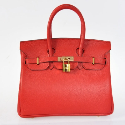 H25LSFG Hermes Birkin 25CM clemence leather in Flame with Gold hardware