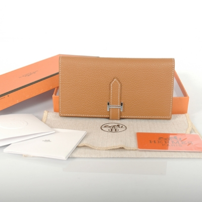 H2WBLLC Hermes 2 fold wallet leather in Camel