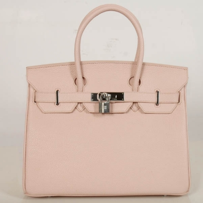 H30BJPS Hermes Birkin togo leather 30CM togo in Pink with Silver hardware