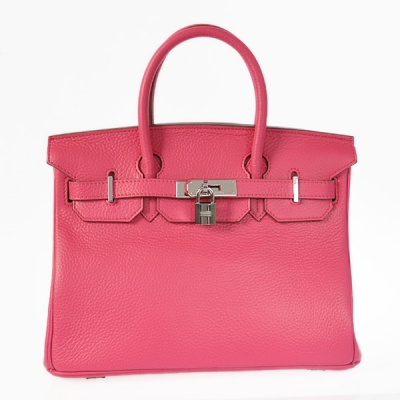 H30LSPS Hermes Birkin 30CM clemence leather in Peach with Silver hardware