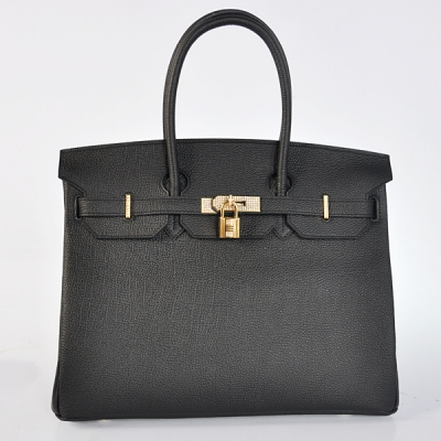 H35BJBGD Hermes Birkin 35CM togo leather in Black with Gold hardware with diamond