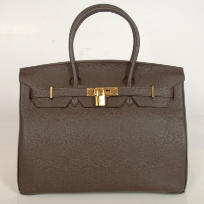 H35DBBJSG Hermes Birkin togo leather 35CM Dark Brown togo(Gold)