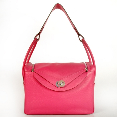 1056PS Hermes Lindy Bag 34 clemence leather in Peach with Silver hardware