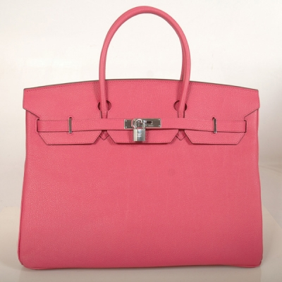 H40BJPS Hermes Birkin togo leather 40CM togo in Peach with Silver hardware