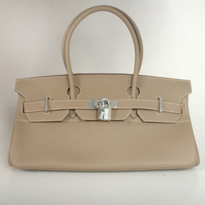 H42BJDGS Hermes Birkin togo leather 42CM togo in Dark Grey with Silver hardware