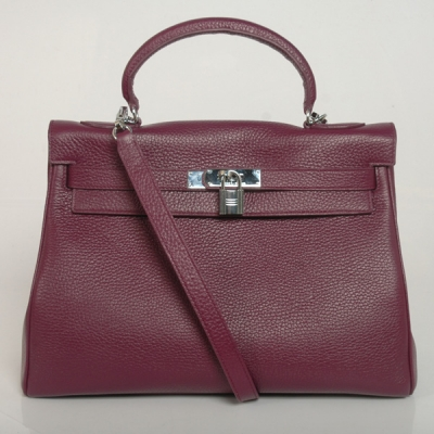 K32LSMS Hermes Kelly 32CM clemence leather in Modena with Silver hardware