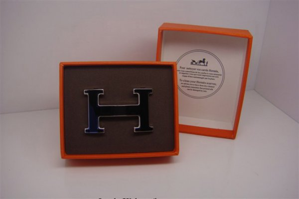 Hermes Enamel Buckle Black