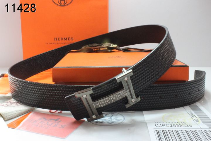 Belt Black Mens Grey Buckle with Hermes H Promote