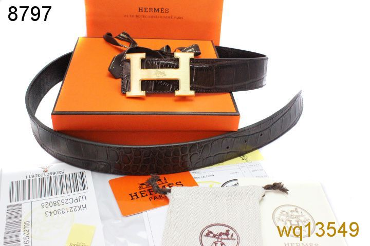 Discover Belt with Golden H Buckle Mens Black Hermes