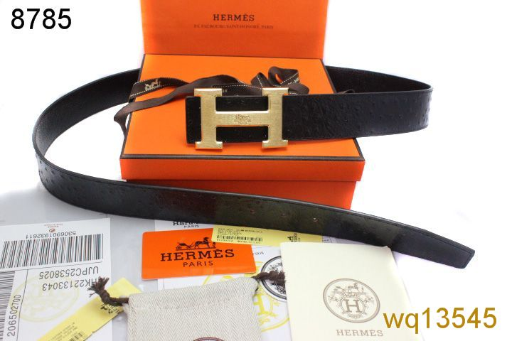 Discount with Golden H Buckle Belt Hermes Black Mens