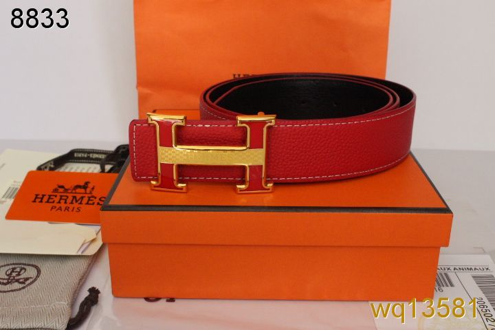 Mens Hermes Belt with Golden H Buckle Red Clearance Sale