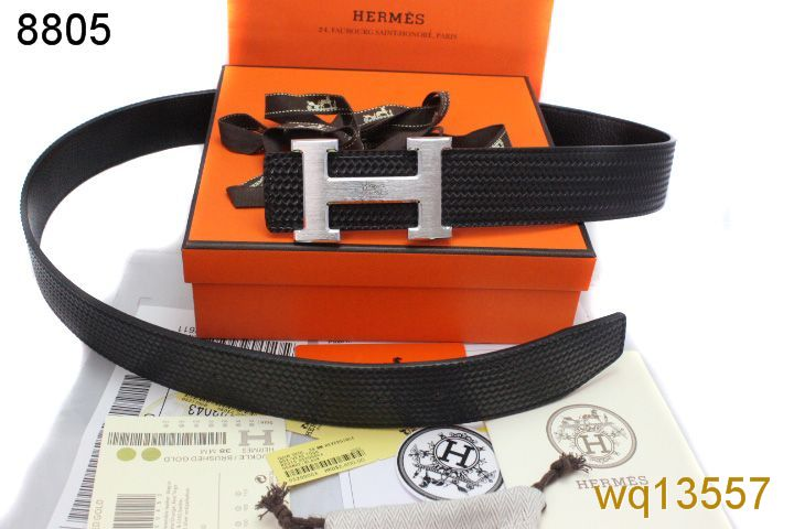 Hermes Black with Silver H Buckle Belt Mens Outlet