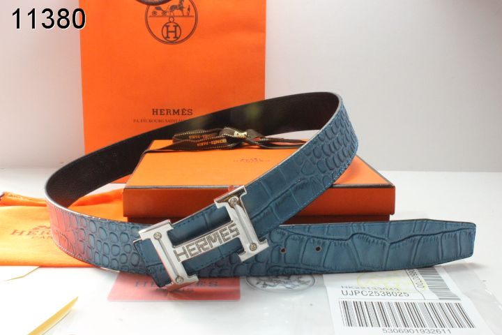 Trendy with Silver H Buckle Mens Hermes Blue Belt Sale