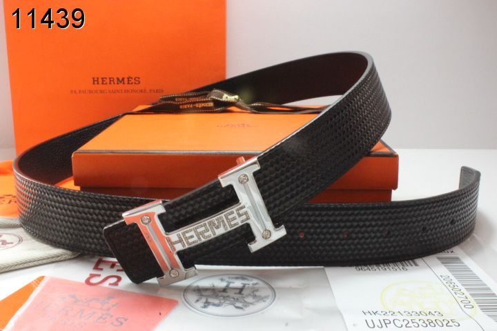 with Silver H Buckle Belt Hermes Mens Black Deals
