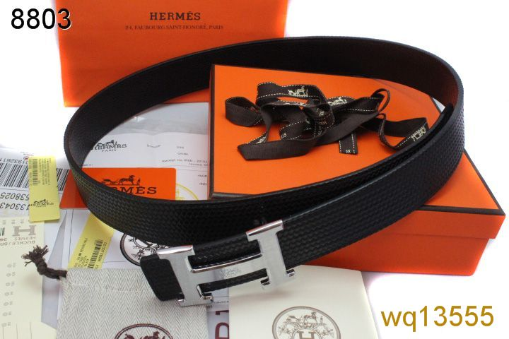 Hermes with Silver H Buckle Black Belt Mens Inexpensive