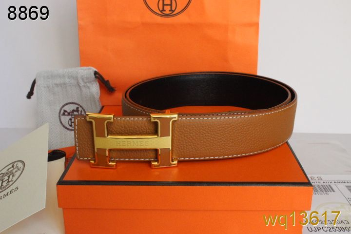 Luxury with Golden H Buckle Mens Orange Belt Hermes Deals
